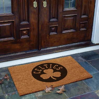 Boston Celtics Flocked Coir Doormat