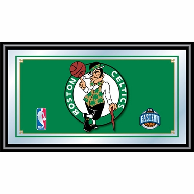 Boston Celtics Framed Logo Bar Mirror