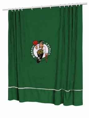 Boston Celtics Jersey Material Shower Curtain