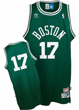Boston Celtics John Havlicek Adidas Team Color Throwback Replica Premiere Jersey - Medium