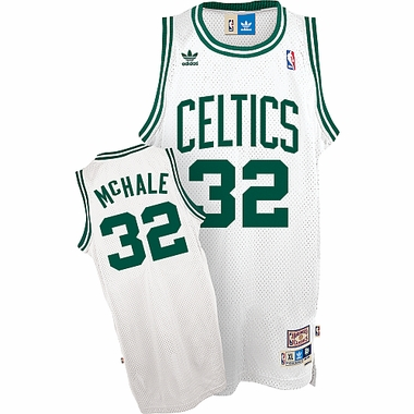 Boston Celtics Kevin McHale Adidas White Throwback Replica Premiere Jersey