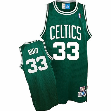 Boston Celtics Larry Bird Adidas Team Color Throwback Replica Premiere Jersey
