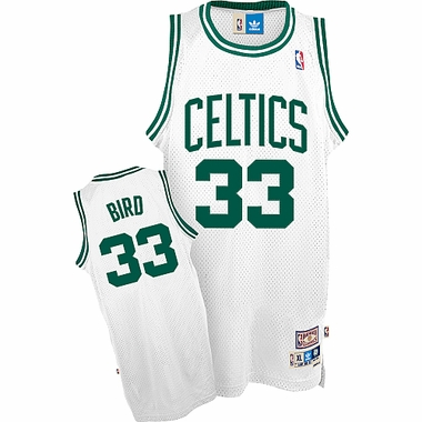 Boston Celtics Larry Bird Adidas White Throwback Replica Premiere Jersey