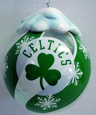Boston Celtics Light Up Glass Ball Ornament