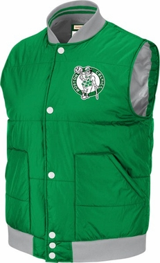 Boston Celtics Mitchell & Ness NBA Free Agent Throwback Snap Vest Jacket