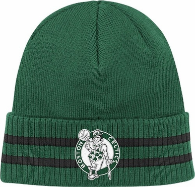 Boston Celtics Mitchell & Ness NBA Vintage Stockey Stripe Cuffed Knit Hat