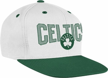 Boston Celtics Name and Logo Snap Back Hat