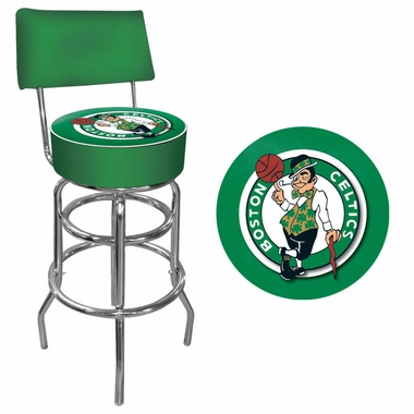 Boston Celtics Padded Bar Stool with Back