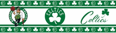 Boston Celtics Peel and Stick Wallpaper Border