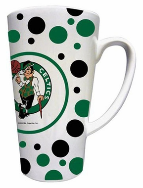 Boston Celtics Polkadot 16 oz. Ceramic Latte Mug
