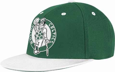 Boston Celtics Retro Flat Bill Flex Hat - Large / X-Large