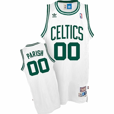 Boston Celtics Robert Parrish Adidas White Throwback Replica Premiere Jersey