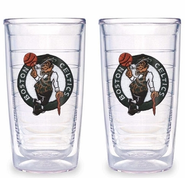 Boston Celtics Set of TWO 16 oz. Tervis Tumblers