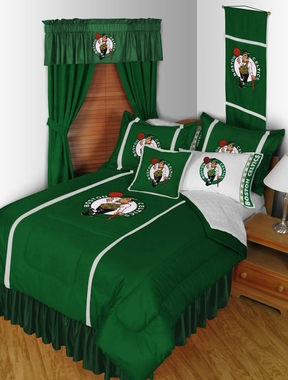 Boston Celtics SIDELINES Jersey Material Comforter