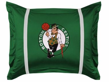 Boston Celtics SIDELINES Jersey Material Pillow Sham