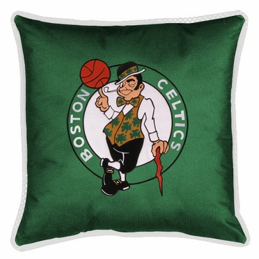 Boston Celtics SIDELINES Jersey Material Toss Pillow