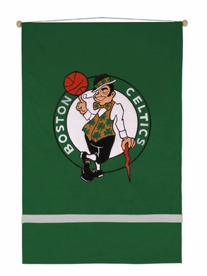 Boston Celtics SIDELINES Jersey Material Wallhanging