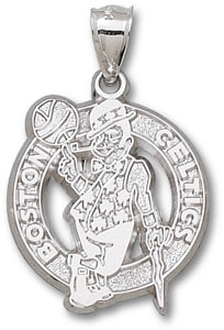 Boston Celtics Sterling Silver Pendant