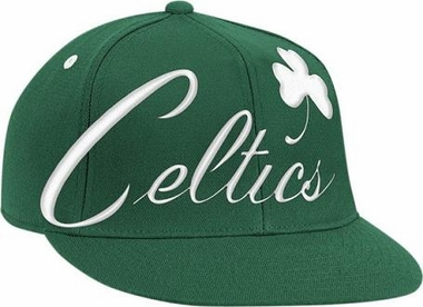Boston Celtics Vintage Wordmark Flat Bill Flex Hat