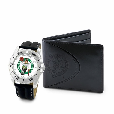 Boston Celtics Watch and Wallet Gift Set