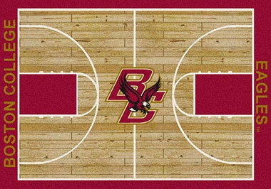 "Boston College 7'8"" x 10'9"" Premium Court Rug"
