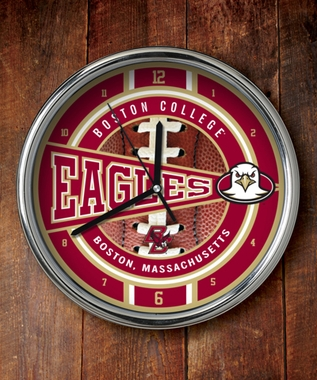Boston College Chrome Clock