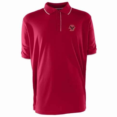 Boston College Mens Elite Polo Shirt (Color: Maroon)