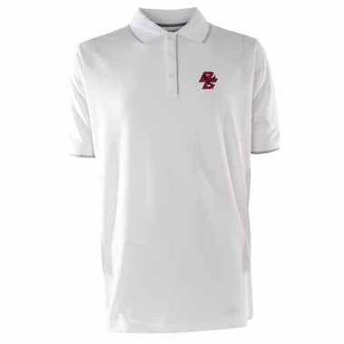 Boston College Mens Elite Polo Shirt (Color: White)