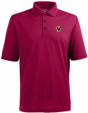 Boston College Mens Pique Xtra Lite Polo Shirt (Team Color: Maroon)