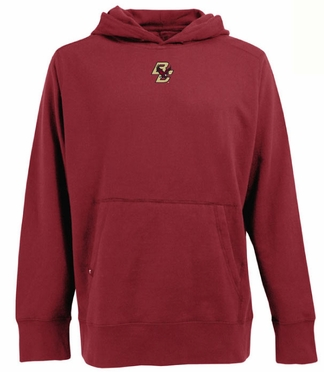 Boston College Mens Signature Hooded Sweatshirt (Team Color: Maroon)