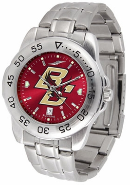 Boston College Sport Anonized Men's Steel Band Watch