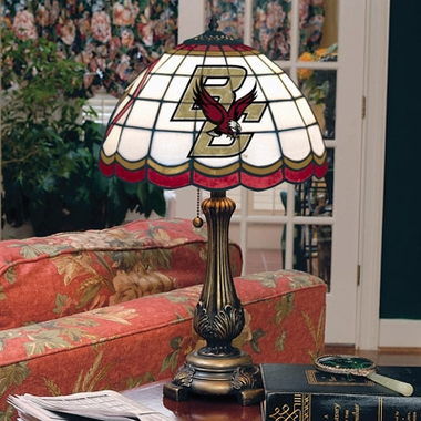 Boston College Stained Glass Table Lamp