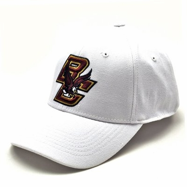 Boston College White Premium FlexFit Hat