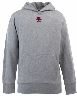 Boston College YOUTH Boys Signature Hooded Sweatshirt (Color: Gray)