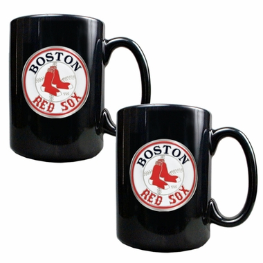 Boston Red Sox 2 Piece Coffee Mug Set