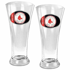 Boston Red Sox 2 Piece Pilsner Glass Set