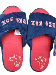 Boston Red Sox 2011 Open Toe Hard Sole Slippers - Large