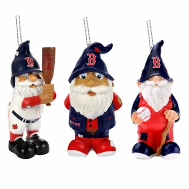 Boston Red Sox 2012 Gnome 3 Pack Ornament Set