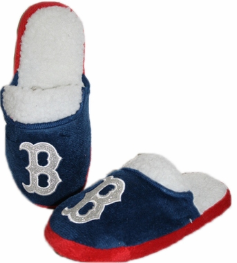 Boston Red Sox 2012 Womens Team Color Sherpa Glitter Slippers