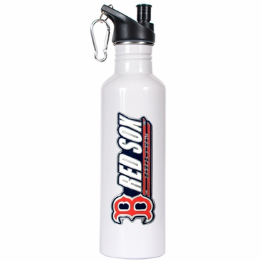 Boston Red Sox 26oz Stainless Steel Water Bottle (White)