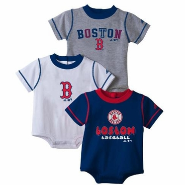 Boston Red Sox 3 Pack Creeper Set