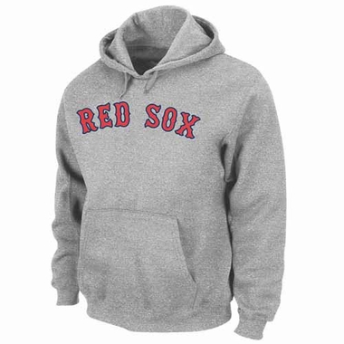Boston Red Sox .300 Hitter Hooded Sweatshirt - Grey