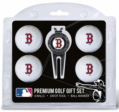 Boston Red Sox 4 Ball and Divot Tool Set