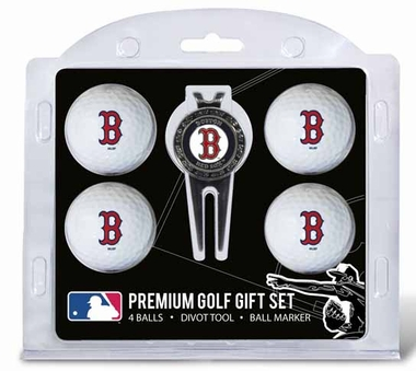 Boston Red Sox 4 Ball and Tool Gift Set