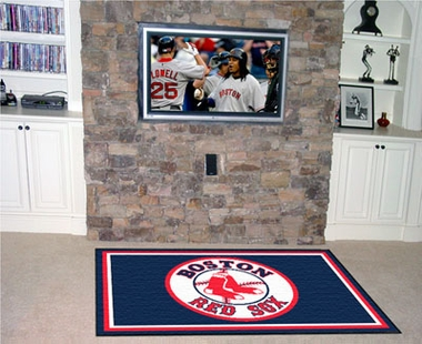 Boston Red Sox 4 Foot x 6 Foot Rug