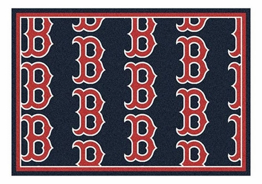 "Boston Red Sox 5'4"" x 7'8"" Premium Pattern Rug"