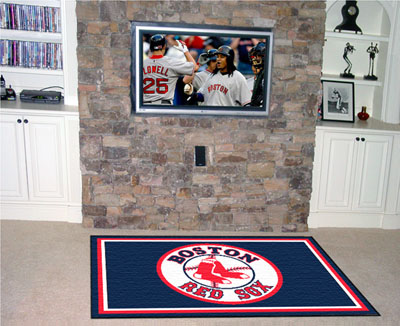 Boston Red Sox 5 Foot x 8 Foot Rug