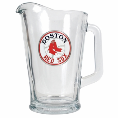 Boston Red Sox 60 oz Glass Pitcher