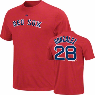 Boston Red Sox Adrian Gonzalez YOUTH Name and Number T-Shirt