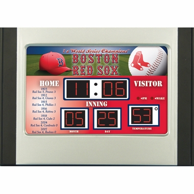 Boston Red Sox Alarm Clock Desk Scoreboard